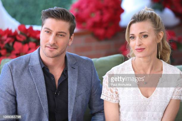 Actors Daniel Lissing and Brooke D'orsay visit Hallmark's Home Family at Universal Studios Hollywood on November 7 2018 in Universal City California