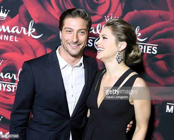 Actors Daniel Lissing and Pascale Hutton attend Hallmark Channel and Hallmark Movies and Mysteries Winter 2017 TCA Press Tour at The Tournament House...