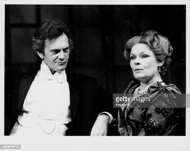 Actors Daniel Massey and Judi Dench on stage in a scene from the Royal Shakespeare Company production of 'Waste' at the Lyric Theatre London May 24th...