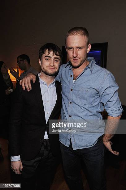 Actors Daniel Radcliffe and Ben Foster attend the Grey Goose Blue Door Kill Your Darlings Cocktail Party on January 18 2013 in Park City Utah