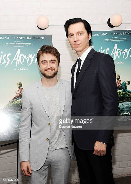 Actors Daniel Radcliffe and Paul Dano attend 'Swiss Army Man' New York Premiere at Metrograph on June 21 2016 in New York City