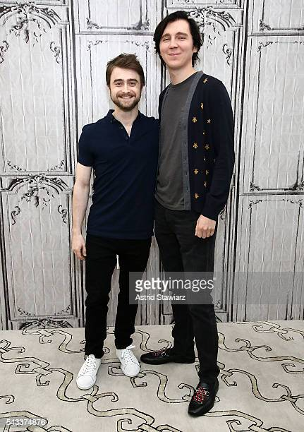 Actors Daniel Radcliffe and Paul Dano attend the AOL Build Presents series to discuss the movie Swiss Army Man at AOL Studios In New York on June 27...