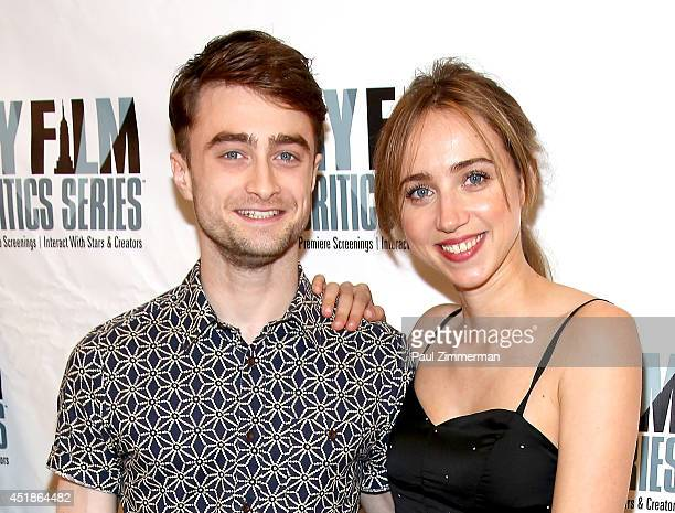 Actors Daniel Radcliffe and Zoe Kazan attend the New York Film Critics Series Screening Of What If at AMC Empire 25 theater on July 8 2014 in New...