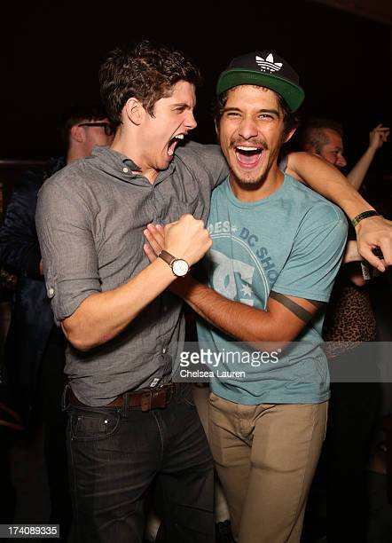 Actors Daniel Sharman and Tyler Posey attend the Maxim FX and Home Entertainment ComicCon Party on July 19 2013 in San Diego California