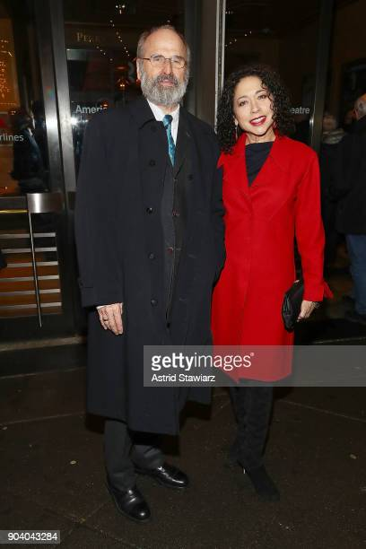 Actors Daniel Sullivan and Julie Fate attend opening night of 'John Lithgow Stories By Heart' at American Airlines Theatre on January 11 2018 in New...