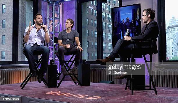Actors Daniel Sunjata and Aaron Tveit attend the AOL BUILD Speaker Series Presents Graceland at AOL Studios In New York on June 25 2015 in New York...