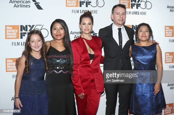Actors Daniela Demesa Yalitza Aparicio Marina De Tavira Fernando Grediaga and Nancy Garcia attend the 56th New York Film Festival premiere of ROMA at...