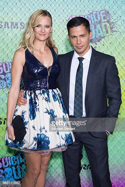 "Actors Daniella Deutscher and Jay Hernandez attend the ""Suicide Squad"" world premiere at The Beacon Theatre on August 1, 2016 in New York City."