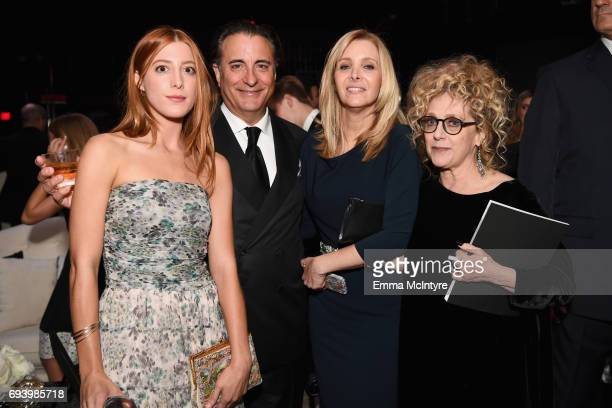 Actors Daniella GarciaLorido Andy Garcia Lisa Kudrow and Carol Kane attend the after party for American Film Institute's 45th Life Achievement Award...
