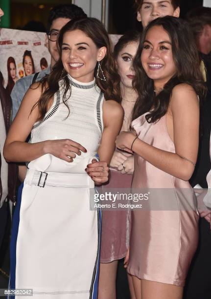 Actors Danielle Campbell and Meg DeLacy attend the premiere Of Orchard And Fine Brothers Entertainment's 'F*% The Prom' at ArcLight Hollywood on...