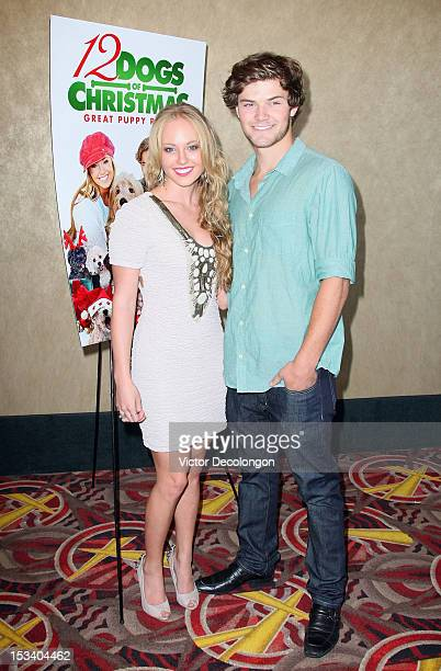 Actors Danielle Chuchran and James Gaisford arrive for the sneak preview of 12 Dogs Of Christmas Great Puppy Rescue on October 4 2012 in Los Angeles...