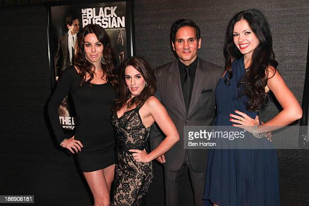 Actors Danielle Dilorenzo Christina DeRosa Amar Sidhu and Natasha Blasick attends the Black Russian Filmmakers VIP Reception and special screening at...