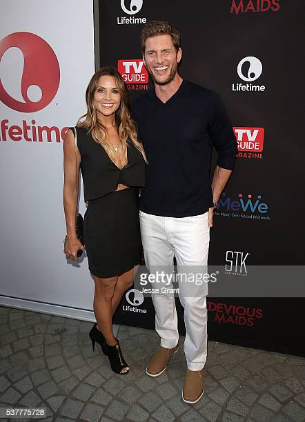 Actors Danielle Kirlin and Ryan McPartlin attend the Premiere of Lifetime's Devious Maids Season 4 at STK Los Angeles on June 2 2016 in Los Angeles...
