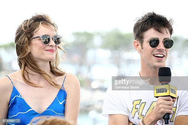 Actors Danielle Panabaker and Grant Gustin of The Flash attend the IMDb Yacht at San Diego ComicCon 2016 Day Three at The IMDb Yacht on July 23 2016...