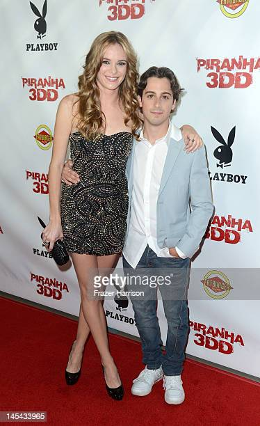 """Actors Danielle Panabaker and Matt Bush arrive at the Premiere of Dimension Films' """"Piranha 3DD"""" at The Mann Chinese 6 on May 29, 2012 in Los..."""