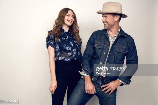 Actors Danielle Russell and Matthew Davis of CW's 'Legacies' pose for a portrait during the 2018 Summer Television Critics Association Press Tour at...