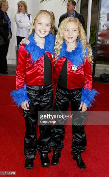 Actors Danielle Ryan Chuchran and Brittany Oaks attend the world premiere of Dr Seuss' The Cat in the Hat at Universal Studios November 8 2003 in...