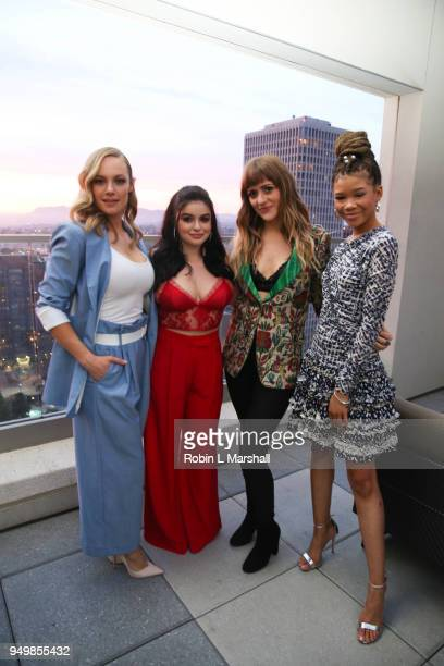Actors Danielle Savre Ariel Winter Singer BELLSAINT and Storm Reid attend the LaPalme Magazine Spring Issue Launch at Vespaio on April 21 2018 in Los...