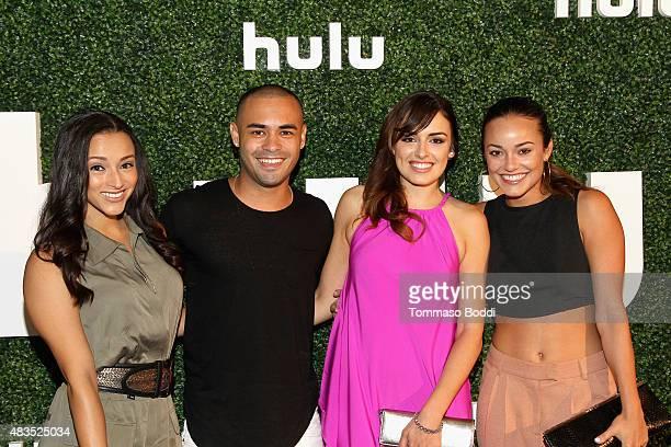 Actors Danielle Vega Gabriel Chavarria Vannessa Vasquez and Alexandra Rodriguez attend the Hulu 2015 Summer TCA Presentation at The Beverly Hilton...