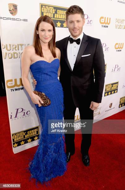 Actors Danneel Ackles and Jensen Ackles attend the 19th Annual Critics' Choice Movie Awards at Barker Hangar on January 16 2014 in Santa Monica...