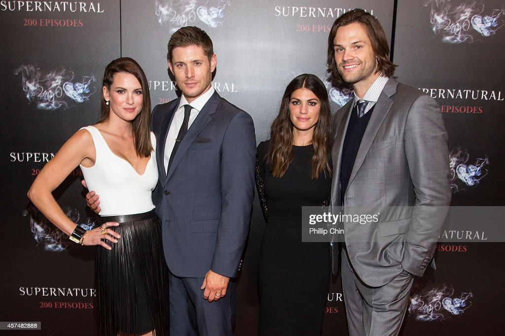 Actors Danneel Ackles, Jensen Ackles, Genevieve Cortes and Jared Padalecki attend the 'Supernatural' 200th episode celebration at the Fairmont Pacific Rim Hotel on October 18, 2014 in Vancouver, Canada.
