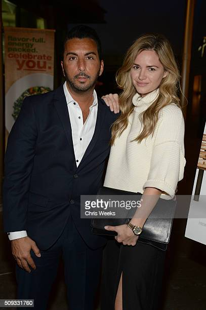 Actors Danny A Abeckaser and Annie Heise attends the premiere after party for The Orchard's 'A Stand Up Guy' on February 9 2016 in Los Angeles...