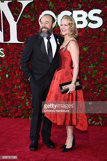 Actors Danny Burstein and Rebecca Luker attend the 70th Annual Tony Awards at The Beacon Theatre on June 12 2016 in New York City