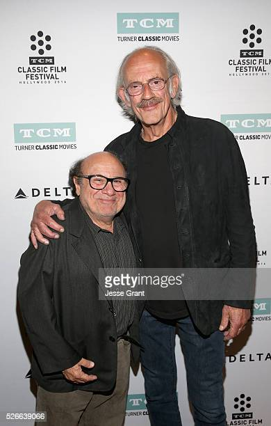 Actors Danny DeVito and Christopher Lloyd attend 'One Flew Over the Cuckoo's Nest' screening during day 3 of the TCM Classic Film Festival 2016 on...