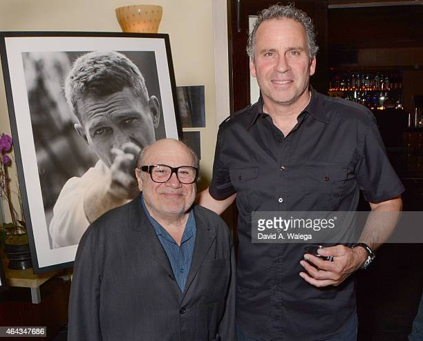 Actors Danny DeVito and Ethan Wayne attend the opening night Exhibit Hollywood Cool the John Hamilton Archives at the Morrison Hotel Gallery on...