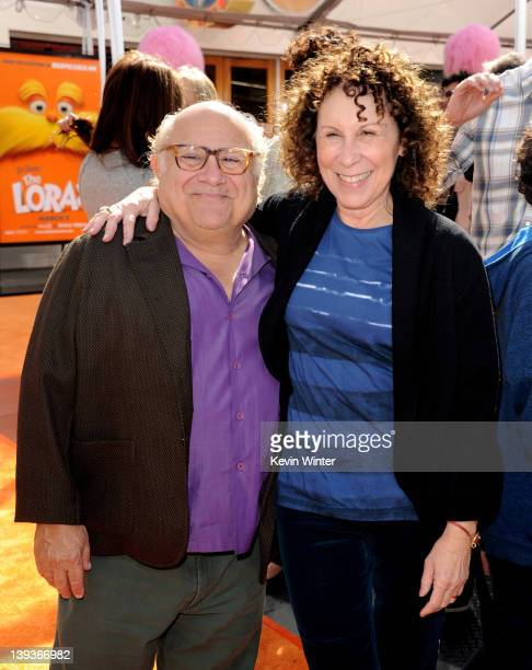 Actors Danny DeVito and Rhea Perlman arrive at the premiere of Universal Pictures and Illumination Entertainment's 3DCG Dr Seuss' The Lorax at...