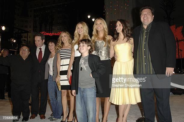 Actors Danny DeVito Matthew Broderick Rhea Perlman Sarah Jessica Parker Sabrina Aldridge Dyan Blue Kelly Aldridge Kristin Davis and director John...