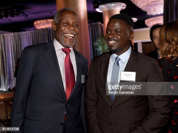 Actors Danny Glover and Daniel Kaluuya attend the 90th Annual Academy Awards Nominee Luncheon at The Beverly Hilton Hotel on February 5 2018 in...