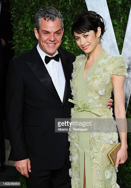 Actors Danny Huston and Olga Kurylenko arrive at the 2012 Vanity Fair Oscar Party hosted by Graydon Carter at Sunset Tower on February 26 2012 in...
