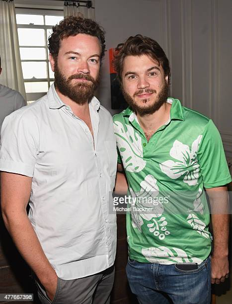 Actors Danny Masterson and Emile Hirsch attend an introduction to HEAVEN 2016 presented by The Art of Elysium and Samsung Galaxy on June 18 2015 in...