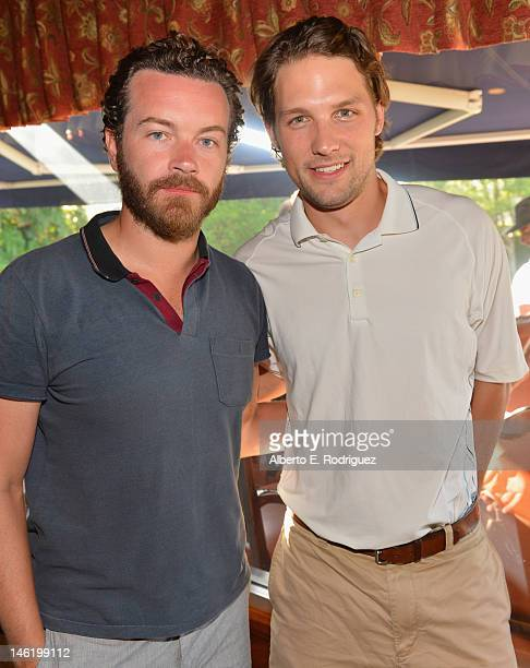 Actors Danny Masterson and Michael Cassidy attend the Screen Actors Guild Foundation's 3rd Annual LA Golf Classic at Lakeside Golf Club on June 11...
