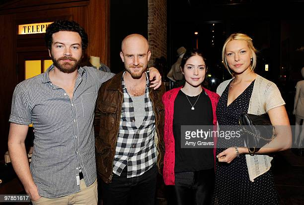 Actors Danny Masterson Ben Foster and Laura Prepon attend the Shipley Halmos event at Confederacy on March 18 2010 in Los Angeles California