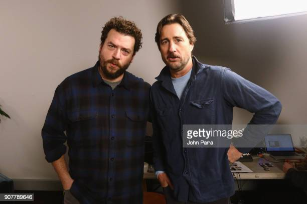 Actors Danny McBride and Luke Wilson from 'Arizona' attend The Hollywood Reporter 2018 Sundance Studio at Sky Strada Park City on January 20 2018 in...