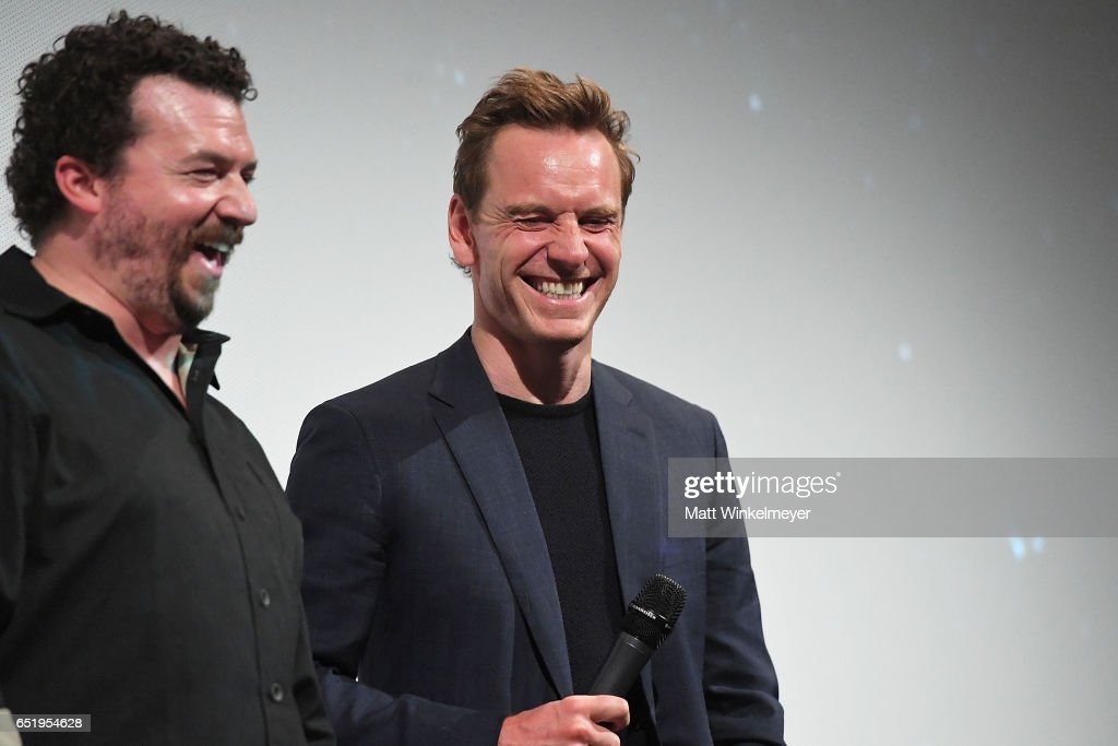Actors Danny McBride (L) and Michael Fassbender attend the 'Alien' premiere 2017 SXSW Conference and Festivals on March 10, 2017 in Austin, Texas.
