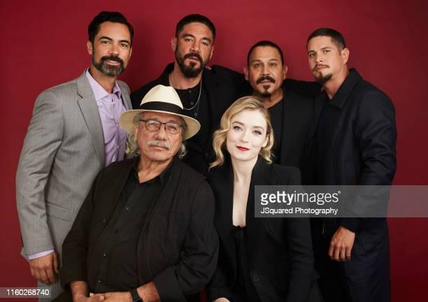 Actors Danny Pino Edward James Olmos Clayton Cardenas and J D Pardo Cocreator Elgin James and actors Emilio Rivera and Sarah Bolger of FX's 'Mayans...