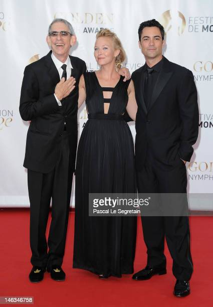 Actors Danny Pino Kelli Giddish and Richard Belzer arrive at the Closing Ceremony of the 52nd Monte Carlo TV Festival on June 14 2012 in MonteCarlo...