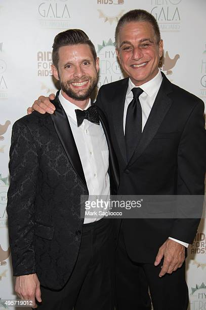 Actors Danny Pintauro and Tony Danza attend the 2015 Aid For AIDS Gala at Cipriani Downtown on November 4 2015 in New York City