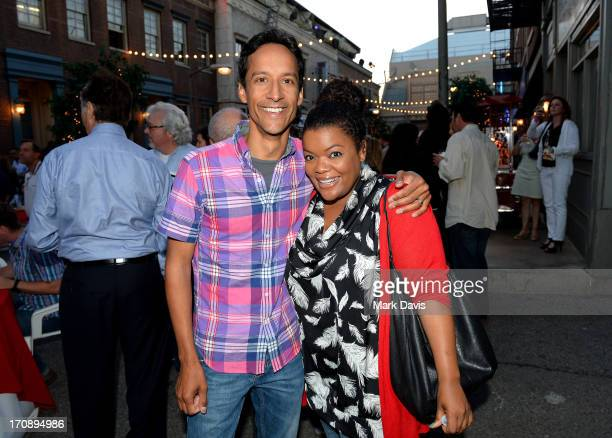 """Actors Danny Pudi and Yvette Nicole Brown attend the after party for TV Land's """"Hot in Cleveland"""" Live Show on June 19, 2013 in Studio City,..."""