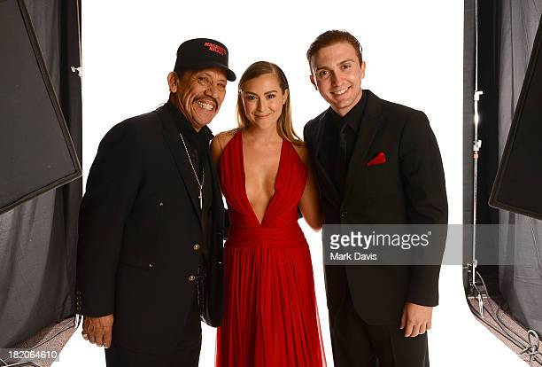 Actors Danny Trejo Alexa Vega and Daryl Sabara pose in the portrait studio during the 2013 NCLR ALMA Awards at Pasadena Civic Auditorium on September...
