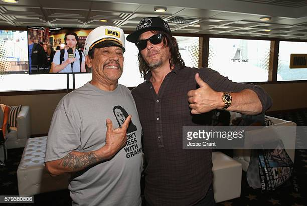 Actors Danny Trejo and Norman Reedus attend AMC at ComicCon on July 23 2016 in San Diego California