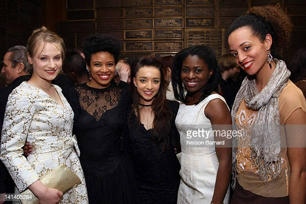 Actors Daphne Gabriel Jameelah Nuriddin Angelina Prendergast and Clara Gabrielle attend the opening night of 'Innocent Flesh' at the Actors Temple...