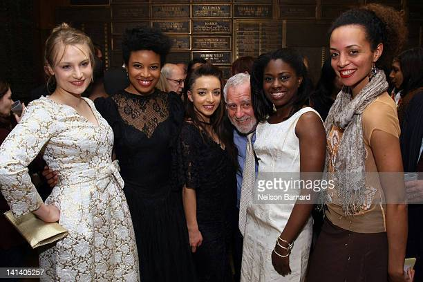 Actors Daphne Gabriel Jameelah Nuriddin Angelina Prendergast Michael Mann and Clara Gabrielle attend the opening night of 'Innocent Flesh' at the...