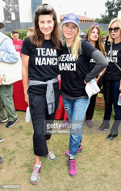 Actors Daphne Zuniga and Renée Zellweger attend the Nanci Ryder's Team Nanci At The 13th Annual LA County Walk To Defeat ALS at Exposition Park on...