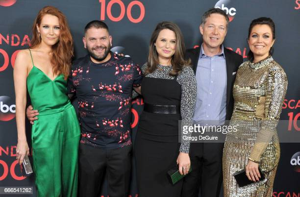 Actors Darby Stanchfield Guillermo Diaz Katie Lowes George Newbern And Bellamy Young Arrive At Abc S