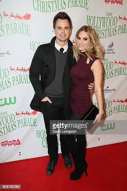 Actors Darin Brooks and Kelly Kruger arrive at the 85th Annual Hollywood Christmas Parade on November 27 2016 in Hollywood California