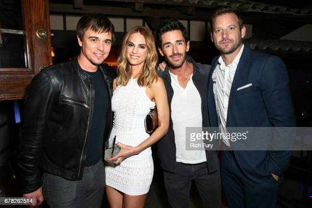 Actors Darin Brooks Kelly Kruger Brandon Beemer and Robert ParksValletta attend the 'This Is LA' Premiere Party at Yamashiro Hollywood on May 3 2017...
